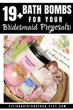 19+ Bath Bombs for your DIY bridesmaid proposal boxes, bridesmaid gifts, and bride tribe. #bathbombs #bridesmaidgifts #bridesmaidproposalbox #diybridesmaidproposalbox #bridetribe #willyoubemybridesmaid