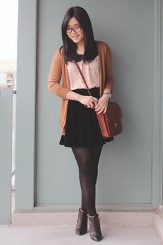 I want this outfit. But with stockings, like the sexy ones. Secretly sexy :p
