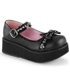 Demonia Black Vegan Leather Platform - The Atomic Boutique