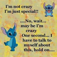 Crazy of special Funny True Quotes, Sarcastic Quotes, Funny Relatable Memes, Cute Quotes, Funny Texts, Crazy Quotes, Funny Disney Jokes, Funny Minion Memes, Funny Jokes