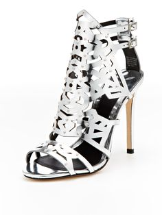 Laconica Laser-Cut Sandal by B Brian Atwood at Gilt