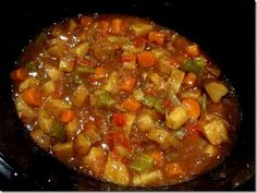 Low-fat Crockpot Veggie Stew - AMAZING FLAVOR!! I needed to add about an extra 2 cups of chicken broth. I could try two cans of italian diced tomatoes. I will definitely be making this again!