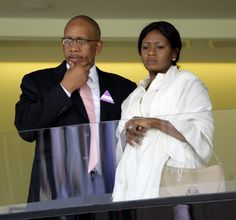 Prince Seeiso Bereng Seeiso of Lesotho and Princess Mabereng Seeiso of Lesotho watch the racing as they attend the Betfair Weekend 'King George IV and Queen Elizabeth Stakes' race day at Ascot. African Style, African Dress, African Fashion, King George Iv, African Royalty, We The Kings, Race Day, Ascot, Royal Families