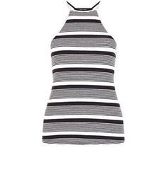 Fantastic Black Stripe Halter Neck Vest Check more at http://www.fiftyshadestores.com/shop/womens/black-stripe-halter-neck-vest-6/