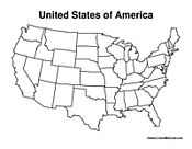 United States Blank Map Worksheet - Have Fun Teaching