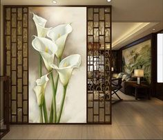 Home Decorative Wall Decor Silk Wallpaper Calla Flo.- Home Decorative Wall Decor Silk Wallpaper Calla Flower Murals Oil Style Mural Wallpaper Painting Art Silk Picture wall pictures for living room Oil Painting On Canvas, Artist Painting, Painting Frames, Canvas Wall Art, Painting Flowers, Spray Painting, Living Room Paint, Living Room Decor, Dining Room