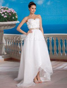 Ball Gown Organza Floor-length Sweetheart Wedding Dress - $178.99