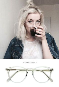 Prism Eyeglasses in Translucent Create and curate your own eyewear collection with glasses starting… Cute Glasses, New Glasses, Glasses Frames, Glasses Style, Girls With Glasses, Look Fashion, Fashion Beauty, Womens Fashion, Runway Fashion