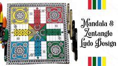 Mandala & Zentangle Ludo Design | Ludo Game Doodle Patterns, Zentangle Patterns, Mandala Pattern, Mandala Design, Zentangle Drawings, Doodle Drawings, Doodle Art, Zen Doodle, Zentangles