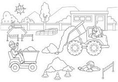 construction coloring pages - Google Search