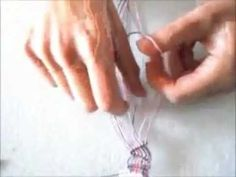 Macramè: nodo cordoncino