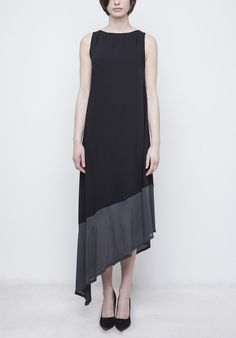 Image of Black Maxi Dress Black Maxi, Spring Summer 2016, High Low, Image, Dresses, Fashion, Gowns, Moda, Fashion Styles