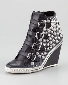 Ash Studded Wedge Sneaker - on the right night!