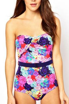 Shop for women's swimwear & beachwear at ASOS. Browse the latest fashion from bikinis, tankinis, one-piece bathing suits, and cover ups. Floral Swimsuit, Bandeau Swimsuit, One Piece Swimsuit, Bikinis, Swimwear, Under Your Spell, Penelope, Cute Bathing Suits, Cute Swimsuits