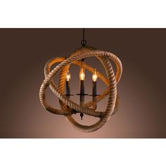 @Overstock.com - Warehouse of Tiffany's Rope Enclosed 3-light Chandelier - This modern 3-light chandelier features three incandescent bulbs and a unique rope design encircling the lights. This lighting fixture will add a contemporary touch to your home.     http://www.overstock.com/Home-Garden/Warehouse-of-Tiffanys-Rope-Enclosed-3-light-Chandelier/8625916/product.html?CID=214117  $215.99
