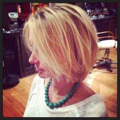 Stylist Jenn gets a sassy new cut!  #velvetsalon #paulmitchellus #askforgretchen #gretchenyautz