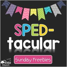 Weekly SPED Freebies linked up every Sunday from some amazing special education teachers!