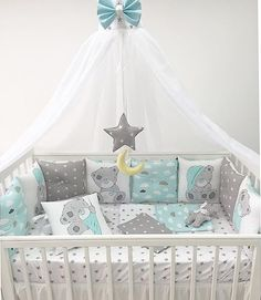 Ulsan Interior Teddy Company / 3 P . Baby Nursery Decor, Baby Bedroom, Baby Boy Rooms, Nursery Neutral, Baby Boy Nurseries, Baby Cribs, Baby Decor, Nursery Room, Baby Crib Sets