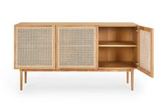 The Tara rattan sideboard with it's handwoven rattan boasts solid oak legs. The rattan sideboard has lots of natural earthy charm and is the ideal sideboard for your living room. Rattan Furniture, Home Furniture, Furniture Design, Home Living Room, Living Room Decor, Living Spaces, Apartment Needs, Sideboard Cabinet, Sweet Home