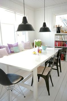 we love this chair and pendant light combination