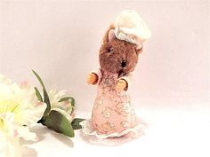 Lady Mouse Plush Stuffed Animal Beatrix Potter Mop Cap Character Vintage 1985 Frederick Warne Eden Toys Collectible