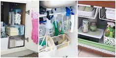 kitchen sink organizer ideas ile ilgili görsel sonucu