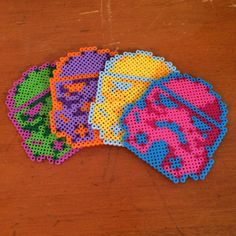 Multi-Colored Stormtrooper Perler Coasters - Set of 4 on Etsy, $16.00