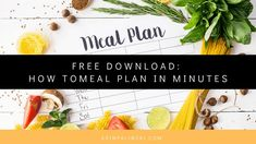 Easy meal planning tips how to meal plan for the week in minutes. #mealplanning #mealplanningguide #healthymom #healthyeating #fitness
