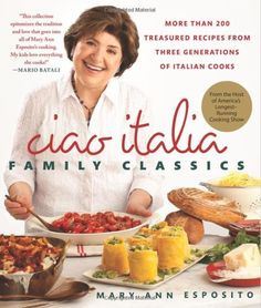 "Chef Mary Ann Esposito of the hit cooking show, Ciao Italia on PBS is releasing a beautifully conceived ‪#‎cookbook‬ representing the best of Italian cooking! ""Ciao Italia, Family Classics"" is available for pre-order at our Foundation! Call (401) 861-4376 to pre-order her cookbook and get it in time to have the host of the longest-running television cooking show in America sign your copy at Flames of Hope on Saturday, October 11th, at 4pm, in the RIKB cooking pavilion!"
