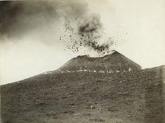 Vesuvius in Eruption, 1895. Edizione Esposito. From The Patrick Montgomery Collection.