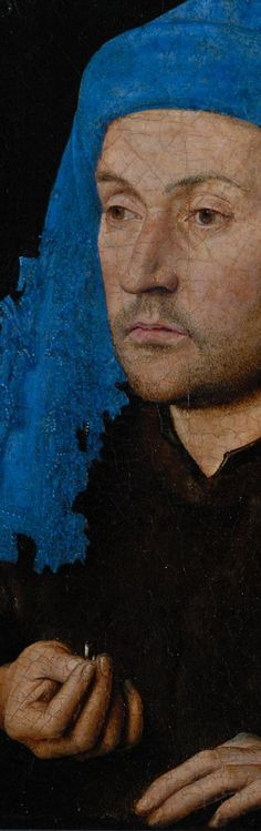Jan van Eyck Portrait of a Man with a Blue Chaperon 1435 (detail)