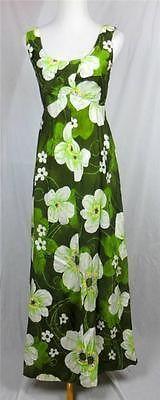 Paradise Hawaii Hawaiian Dress Muu Muu Maxi Retro 70's Greens Daisy Size Medium   eBay