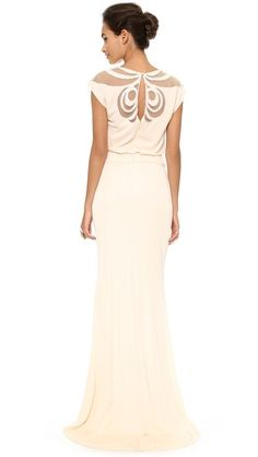 Badgley Mischka Collection Keyhole Gown - Blush $935.00 AT vintagedancer.com