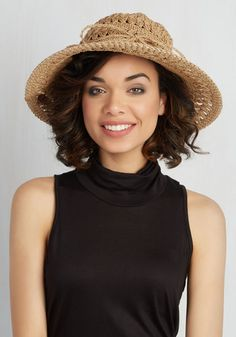 Every Sol Often Hat. Its not every day you find a sun hat with the perfect combo of beachy and boho flair. #tan #modcloth