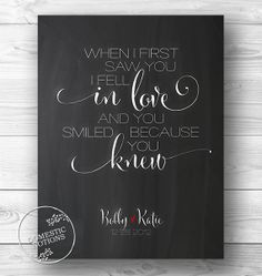 Typographic Print Personalized Quote Chalkboard by DomesticNotions, $23.00