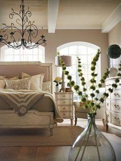 elegant, neutral master bedroom