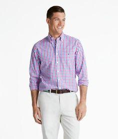 T1  Shop Shirts: Punch Gingham Slim-Fit Tucker Button Shirts | Vineyard Vines®