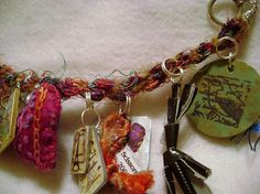 Kumihimo Braid Charm Bracelet by cindyiscrafty, via Flickr