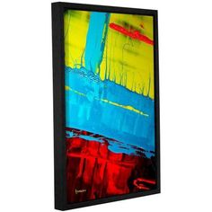 ArtWall Byron May Boundaries Gallery-Wrapped Floater-Framed Canvas, Size: 24 x 36, Blue