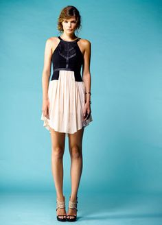 My perogative dress. We love this nude and black combo! Alexandra & Lace x