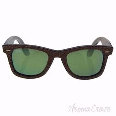 e5b1801cc4 Ray Ban RB 2140 1191/2X Wayfarer - Brown Denim Brown/Green by Ray Ban for  Unisex - 50-22-150 mm Sunglasses
