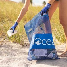Up to 90% of trash entering the ocean comes from a land-based source. Bringing your Cleanup Combo to the beach, lake, or park and using it to collect trash you find can prevent it from being washed into waterways that will carry it to the ocean. The Cleanup Combo includes our Cleanup Tote, which can double as a beach bag, and a pair of 4ocean-branded gloves to keep your hands clean. Every combo purchased funds the removal of one pound of trash from the ocean and coastlines. Beach Clean Up, Pick Up Trash, Seven Jeans, Beach Activities, Vegan Handbags, Body Sculpting, Club Outfits, Workout Gear, Bag Making