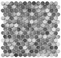 Shades of Gray Penny Porcelain Gloss Finish Mosaic Floor Wall Tile $8.95/sqft