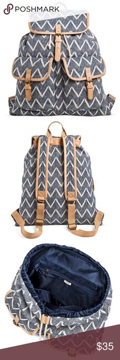 Chevron Backpack Handbag Brand New -- 18.5 inches Tall x .5 inches Wide x 17 inches Deep -- cotton fabric Mossimo Supply Co Bags Backpacks