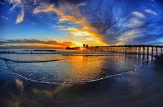 Oceanside Pier at sunset - California