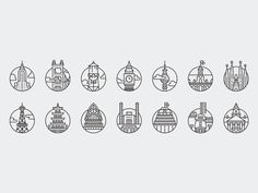 Discover more of the best Icons, City, Offscreen, Magazine, and 5 inspiration on Designspiration Line Design, Icon Design, Mexico Logo, Logos, City Icon, Best Icons, Travel Icon, Glyphs, Illustrations