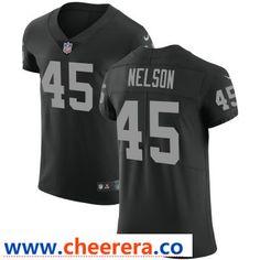 a1c572b4c Men s Oakland Raiders  45 Nick Nelson Black Team Color Stitched Vapor  Untouchable Elite Jersey