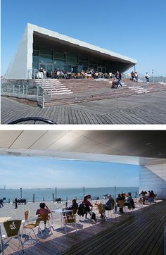 The Royal Pavillion. Southend Pier, Southend-on-Sea, Essex. Offering unrivalled views of the Thames Estuary from its covered terrace.