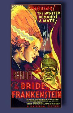 La novia de Frankenstein (Bride of Frankenstein) es una película de terror y ciencia ficción dirigida por James Whale y estrenada en 1935. La cinta cuenta con la actuación de Elsa Lanchester, que encarna a Mary Shelley y a la novia del monstruo, y con la de Ernest Thesiger en el papel del doctor Pretorious. #TeRecomiendo #Pelicula #UCSG
