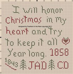 Dickens xStitch - this quote isn't quite accurate to the original Dickens but I still like it!